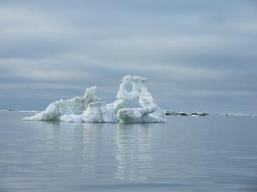 Sea ice monuments