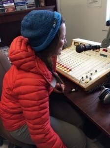 Clara on the air of Radio Salluit!