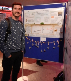 Haydn with his poster - check out the tea bags!