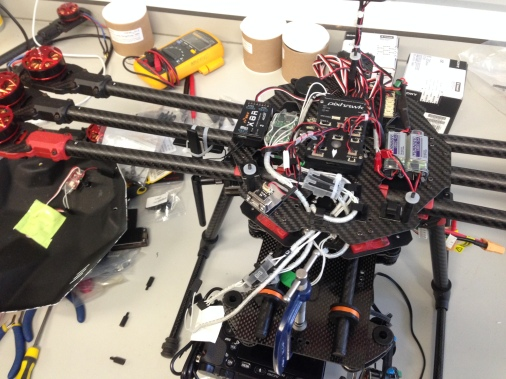 Under the bonnet... drone assembly
