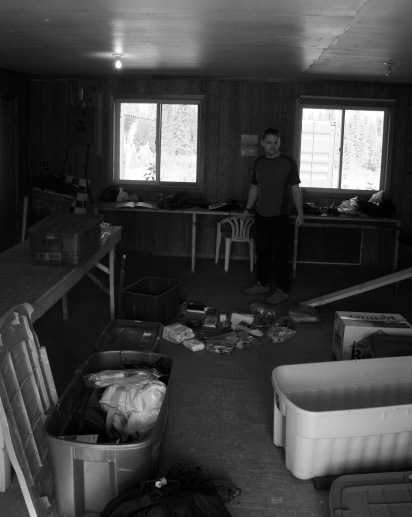 Andy attempting to deal with the bleak state of the Kluane inventory 'system'.