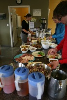 Lunches at Kluane Lake are tasty as tasties get.