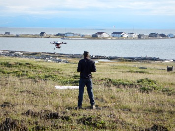 Flying the hexacopters