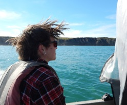 The sea breeze blowing in our hair