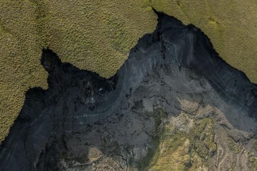 Aerial view of Slump D