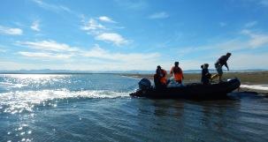 Landing on shore at Avadlek Spit.