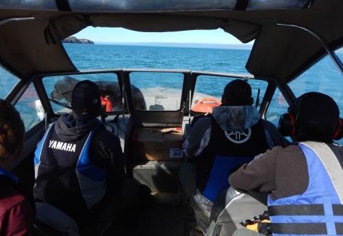 In the Qikiqtaruk Boat.