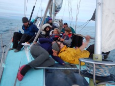 Piling on to the foredeck