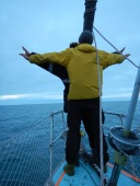 Doing the Titanic front of the boat thing