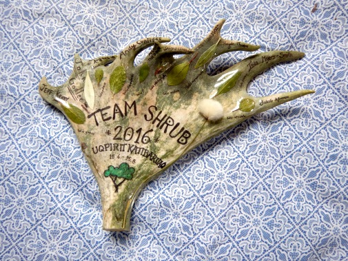 The 2016 Team Shrub plaque