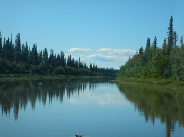 In the Mackenzie Delta on our way to Aklavik!