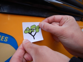 The Team Shrub sticker is now part of the food bus' rich sticker collection!
