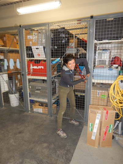 Closing up the storage locker at the Aurora Research Institute, all packed up and inventorised.