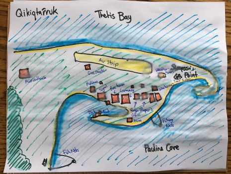 A map of the island to record the Bird and Plant Bingo sightings on!