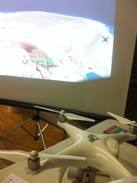 Everyone got a taste of what it's like to be a drone pilot with our flight simulator