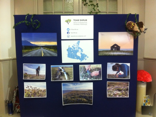 The Team Shrub board full of beautiful memories from the Arctic!