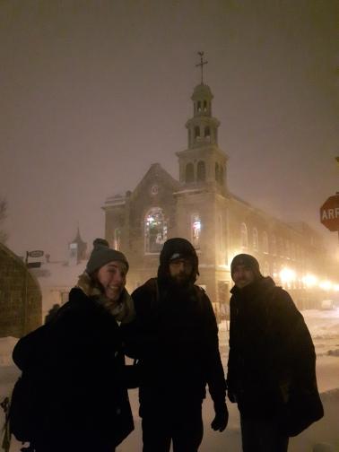 Team Shrub on the way home through the snow.