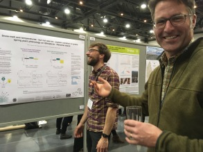 Cameron Eckert, our favourite Yukon biologist, (gently) quizzing Jakob on his poster