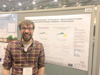 Jakob stoked about presenting tundra phenology change.