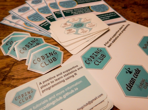 The Coding Club stickers and cards