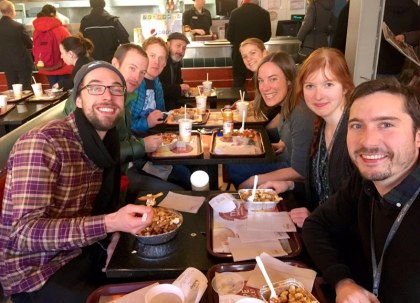 Team ArcticNet enjoying a lovely meal!