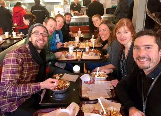 Team ArcticNet enjoying a lovely meal!