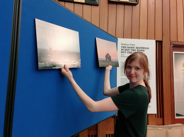 Exhibition prep in the Main Library