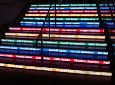 Entering the Google Building in Dublin all Earth Engine User Summit participants saw their names on the stairs!