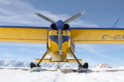 The cool plane that got us to the icefields@